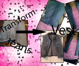 TRANSFORM Old Jeans Into a VEST!