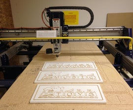 Custom Wooden Signs made with Shopbot CNC Router