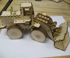 Laser Cut Front End Loader Toy