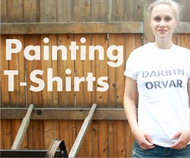 DIY How To Paint T-shirts
