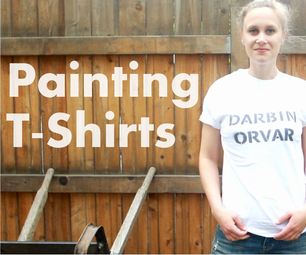 Diy How To Paint T Shirts 6 Steps With Pictures