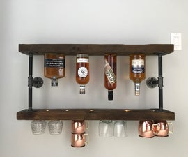 DIY Whiskey Shelf