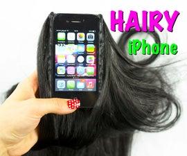 Hairy iphone! DIY PHONE CASE life hacks - hot glue phone case