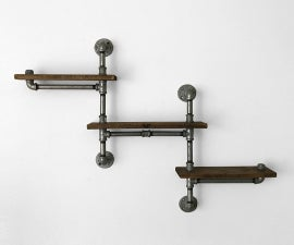 Making Your Own Custom Industrial Pipe Shelf Unit