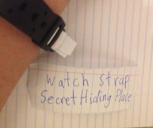 Watch Strap Secret Hiding Place