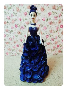 DIY Hand Crafted 3D Doll in Indigo(moulded).