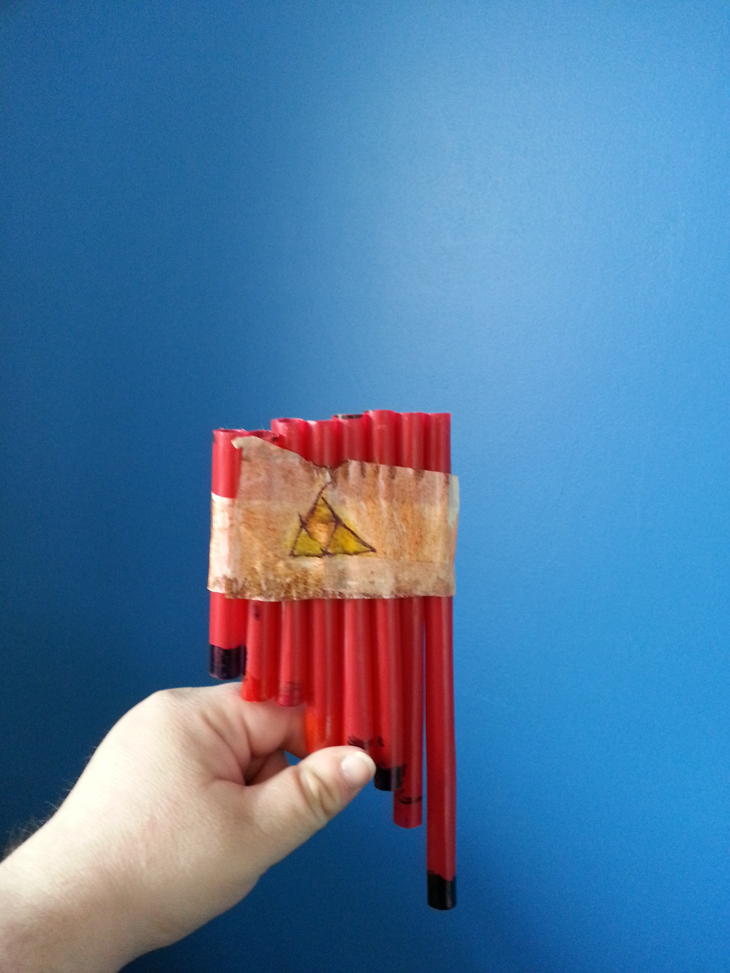 Picture of Homemade Pan Flute...with Straws!