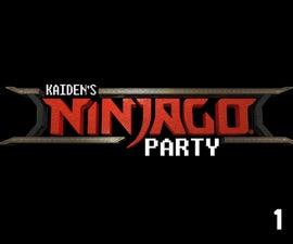 Lego Ninjago Theme Birthday Party