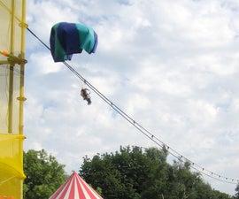 Teddy parachute jump apparatus (parafauna)
