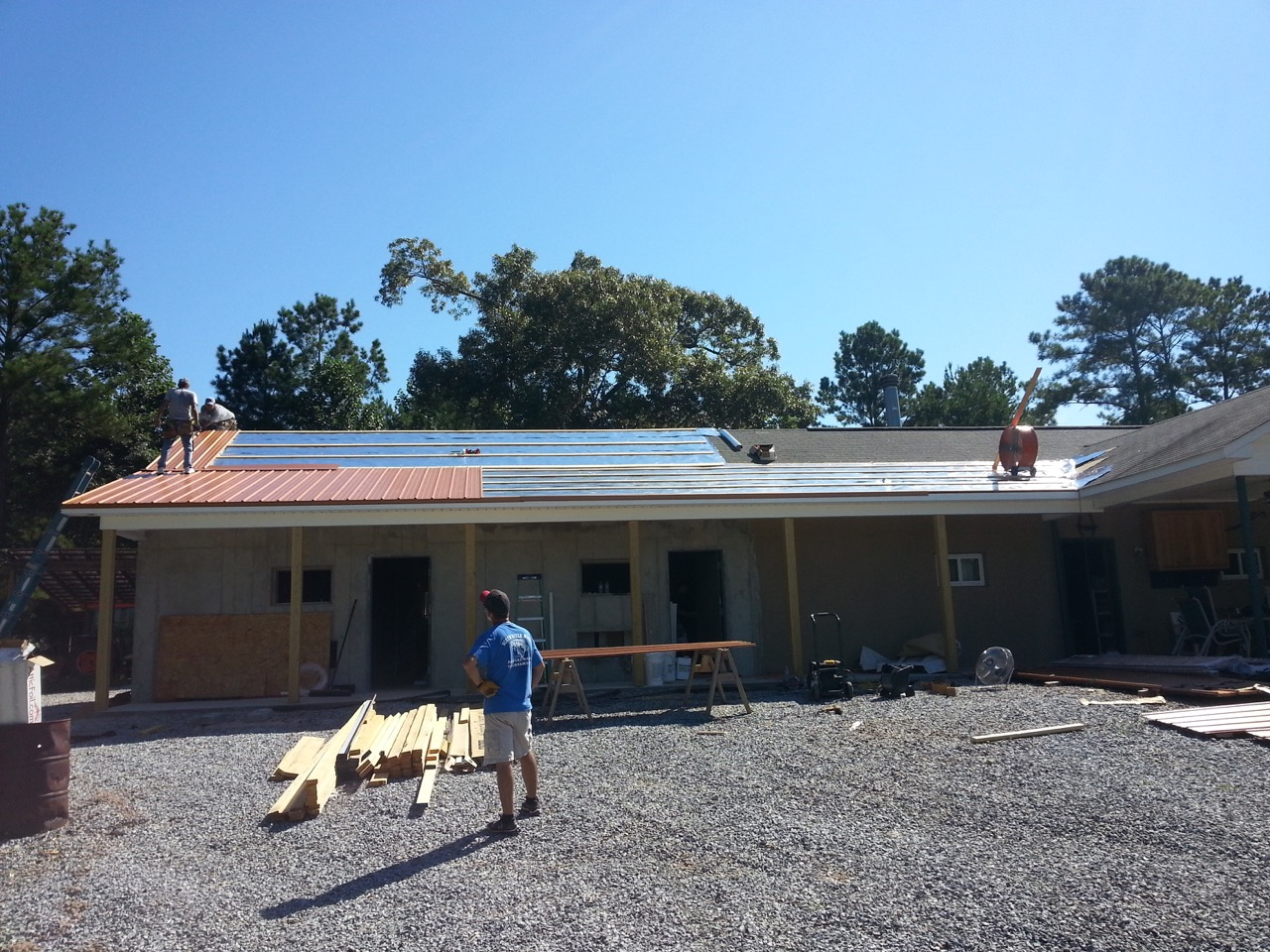 Picture of Step 3: Add Metal Roofing Panels