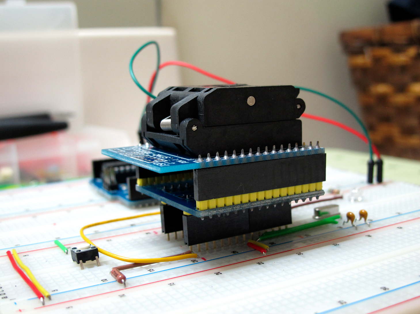 Picture of Connect TQFP on Breadboard