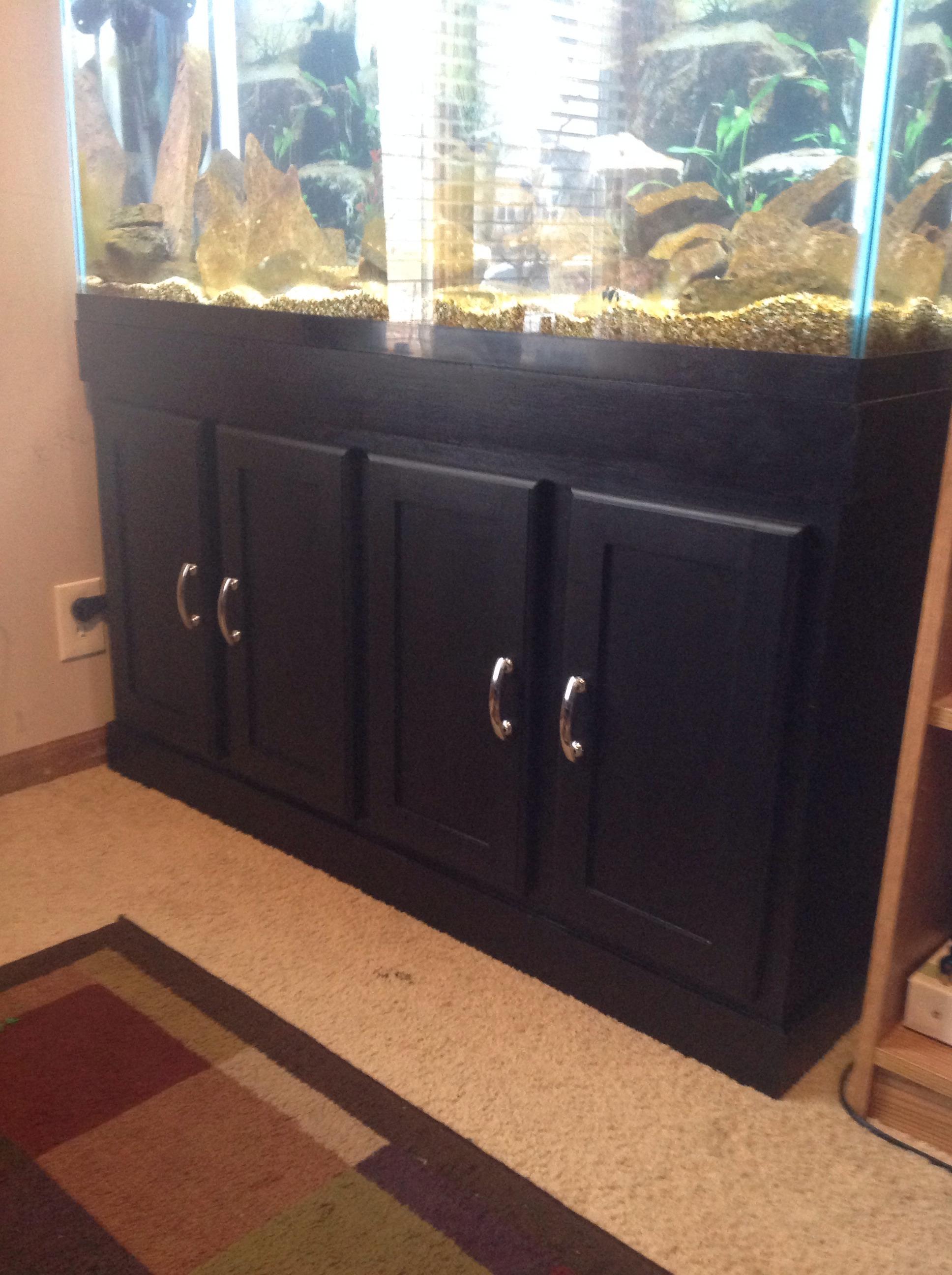 Fish tank tv stand - Aquarium Stand With Secret Door For Sump