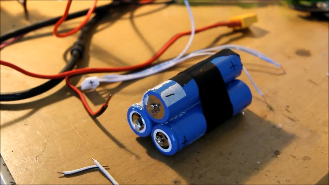 Picture of Taping the Batteries Together