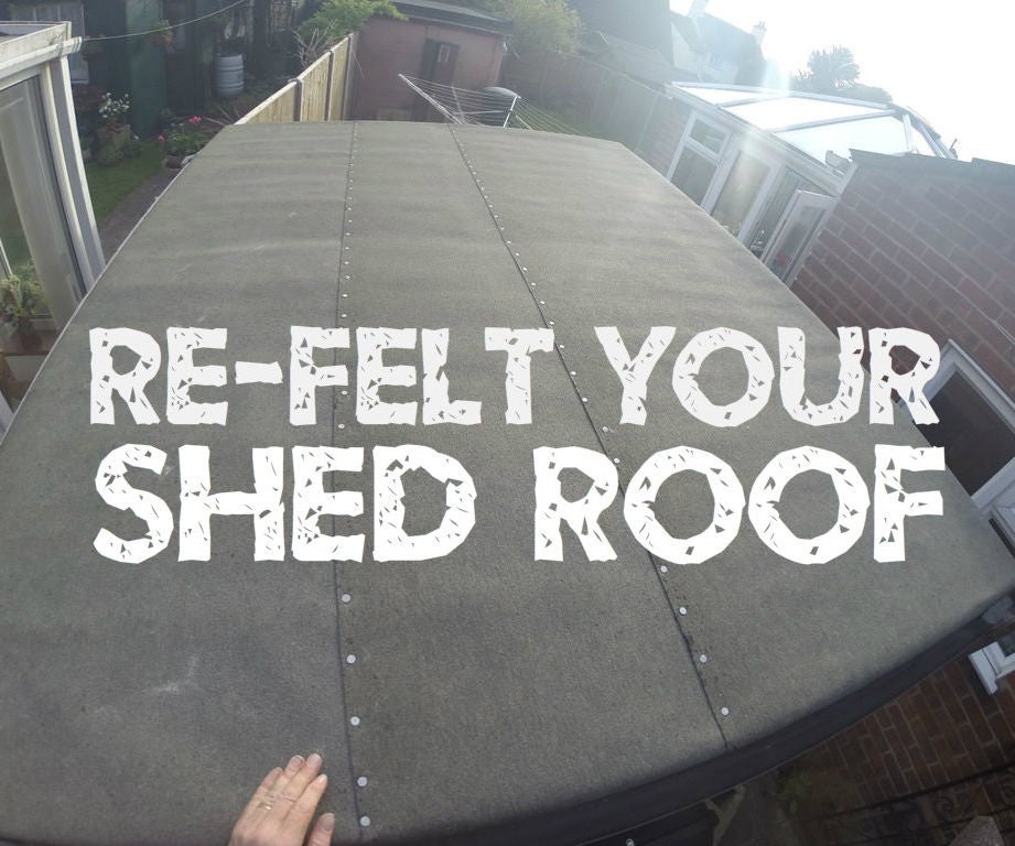 Re Felt Your Shed Roof 7 Steps With Pictures
