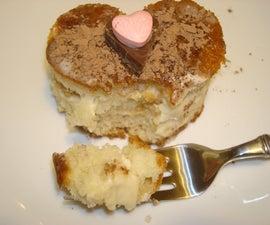 Heart Shaped Tiramisu Cake