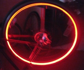 Embedded Bike Rim Lights