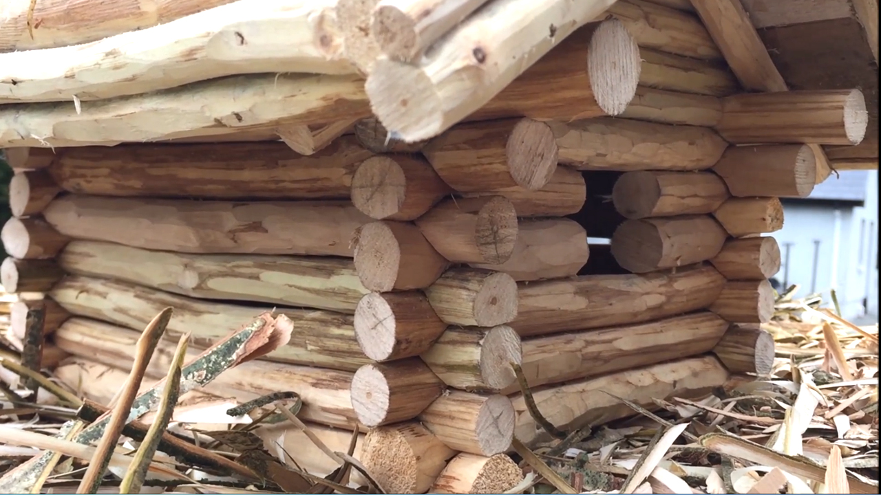 Picture of The Finished Log Cabin.