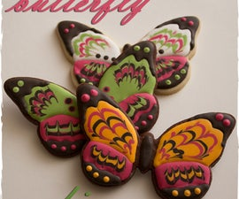 Butterfly Cookies and The Marbling Technique