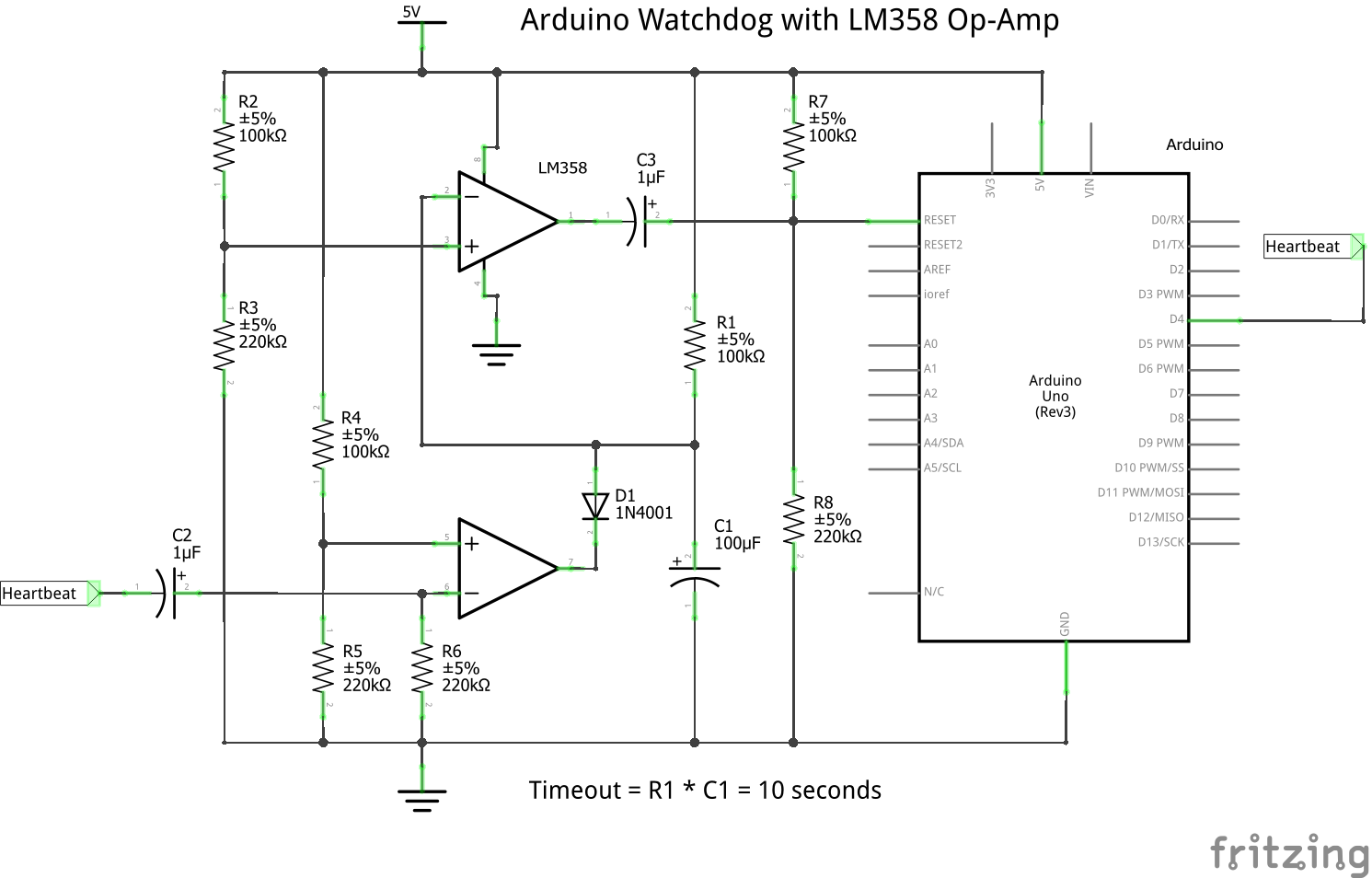 Picture of Arduino Watchdog With LM358 Op-Amp