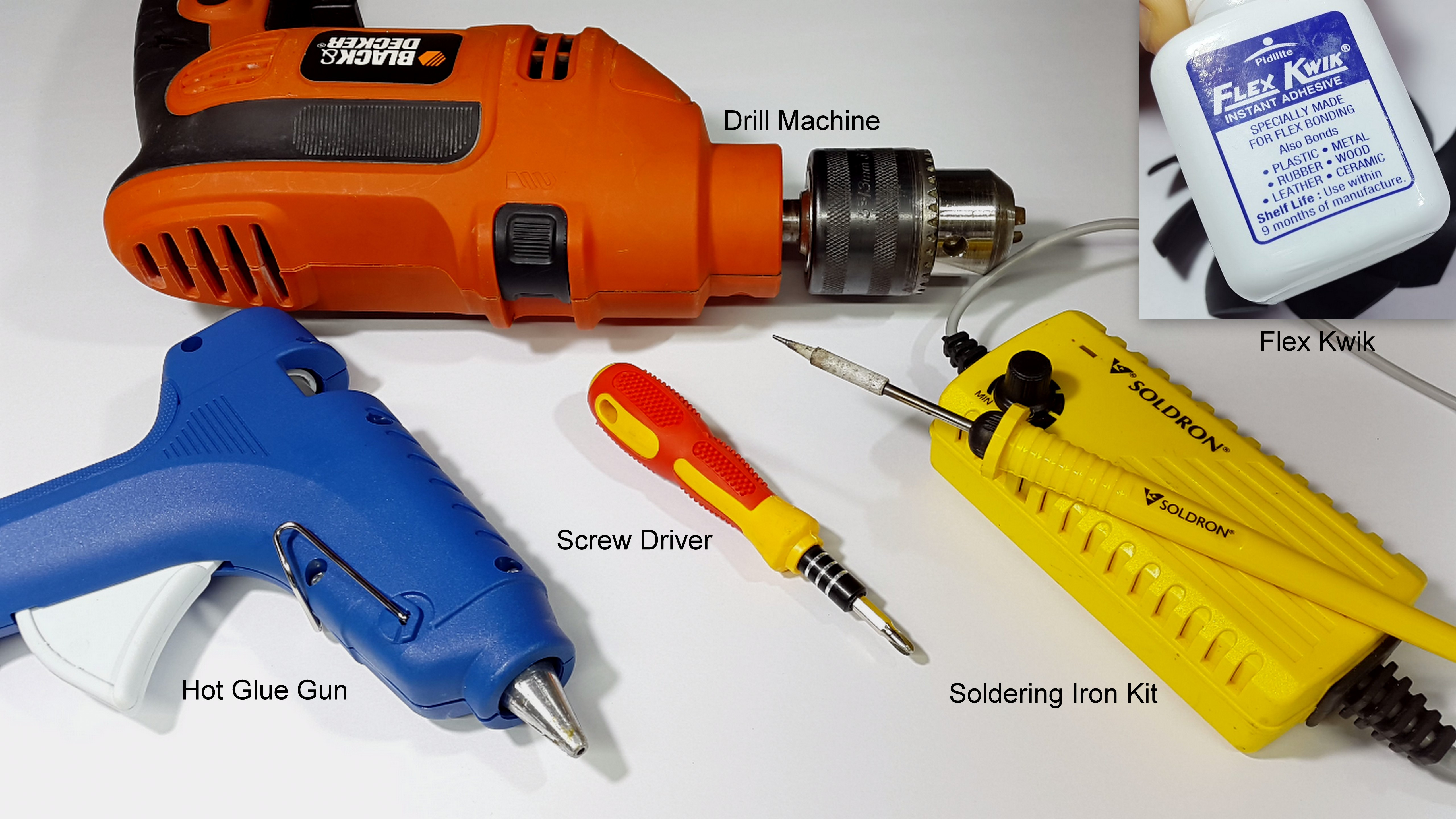 Picture of Tools and Materials Required