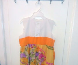 Colorful summer easy dress