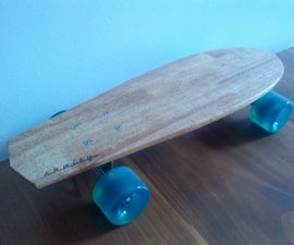 Skateboard made from reclaimed wood