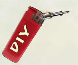 How to make Mini Gas solderer out of the lighter