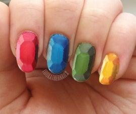 Gemstone / Rupee Nail Art