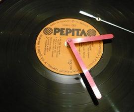 Wall clock vinyl record (LP)