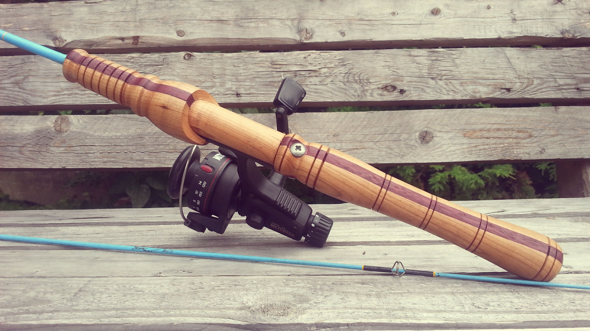 Picture of Custom Wooden Composite Fishing Rod Handle