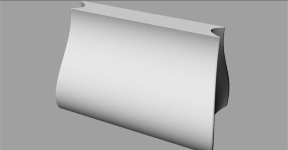A Sleek and Modern Nylon Purse - Medium to Small Size
