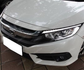 10th Gen Honda Civic Switchback Eyelid LED DRL Installation