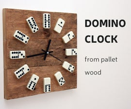 DIY: Domino Clock from Pallet wood