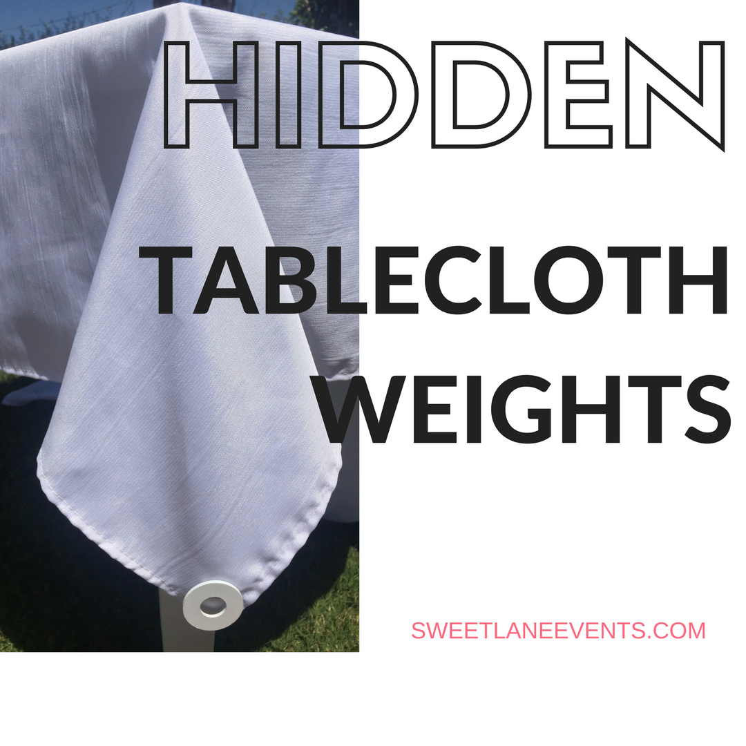Picture of Hidden Tablecloth Weights