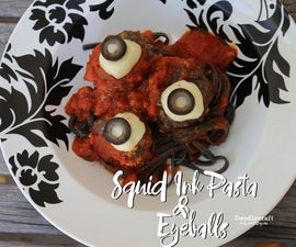 Squid Ink Pasta and Eyeballs!