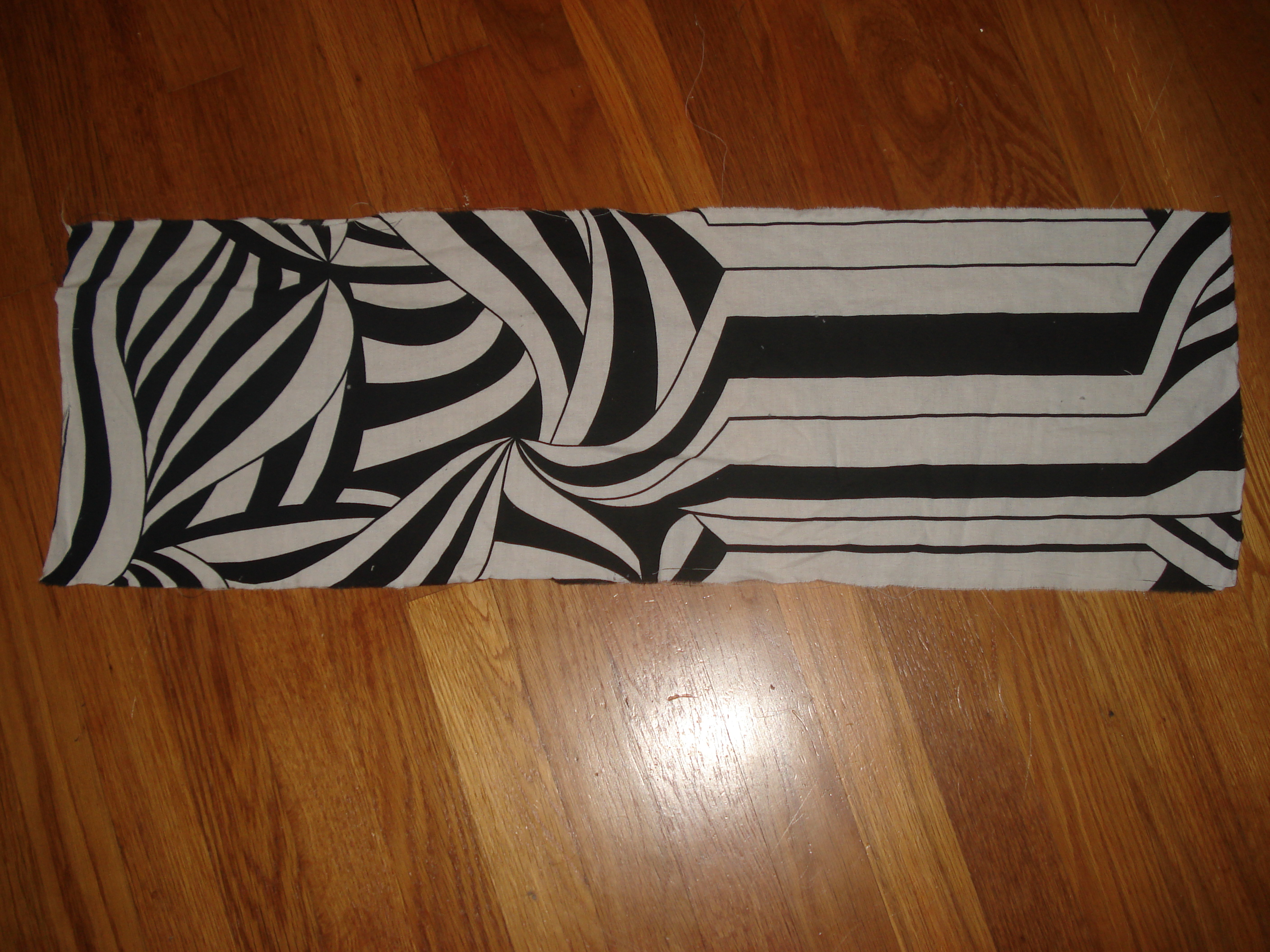 Picture of Divide Sheet/Fabric Into Skinny, Long Rectangle