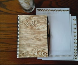 Faux Wood Notebook Cover