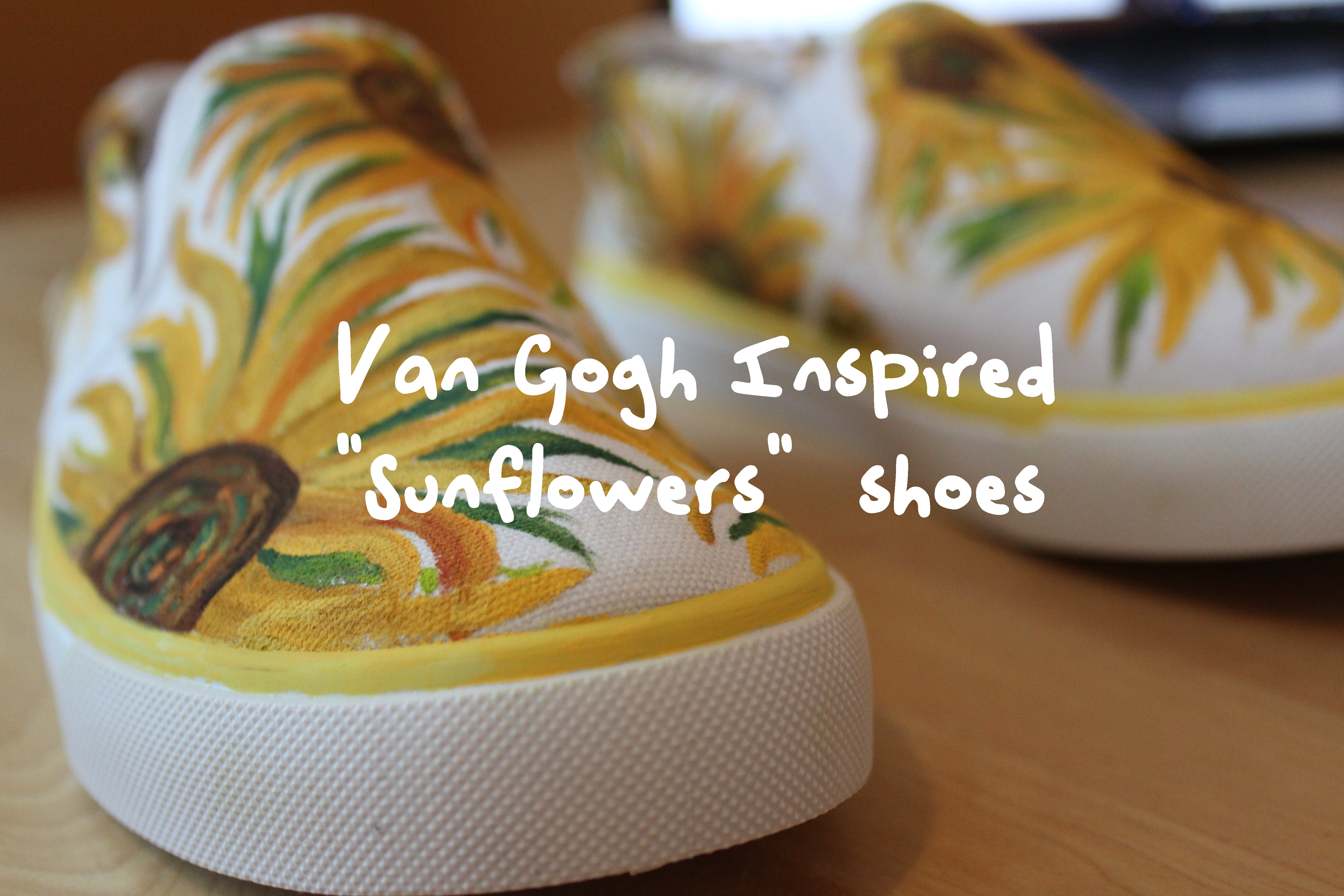 Picture of Van Gogh Inspired Yellow Sunflower Shoes