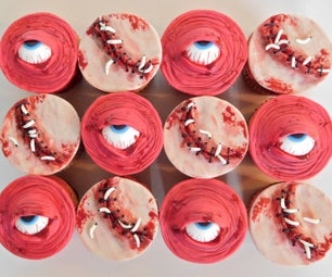 Flesh Wound & Eyeball Cupcake Toppers