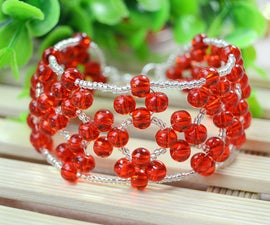 Right Angel Weave Bracelet Tutorial-Make an Embellished Red Bead Weaving Bracelet