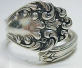 DIY ring jewelry- retro-style spoon jewelry making DIY