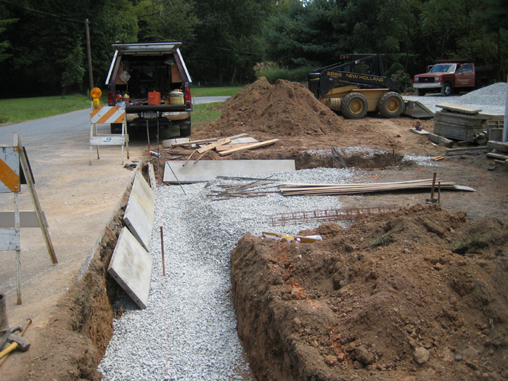 Picture of Preparing Footers and Base