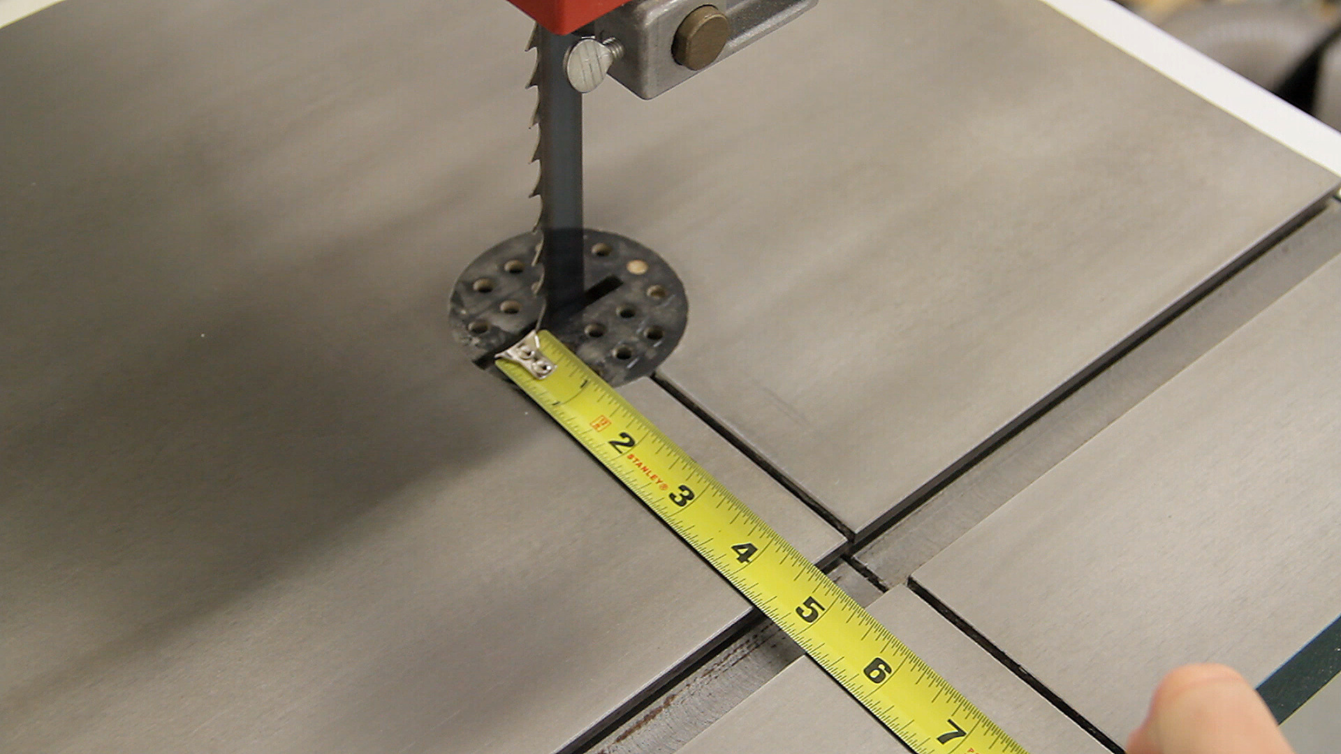 Picture of Marking the Miter Bar Location