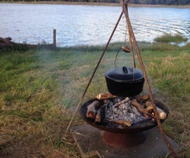 Beef Stew With Vegetables in Open Fire