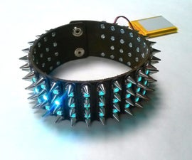 LED Spiked Collar