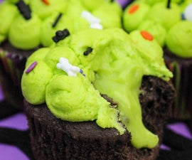 Ewwy Gooey Slime Filled Cupcakes