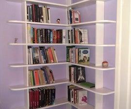 Stylish and easy to make corner bookshelf