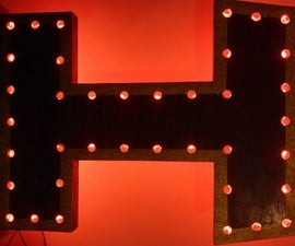 LED Backlit Marquee Style Sign