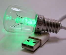 Green LED USB Bulb