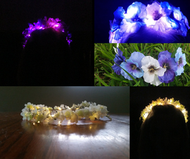 Light Up Flower Crown Headbands for Summer Music Festivals, Weddings, Special Occasions